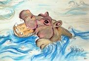 imaginació i contes - una mare per l'Owen nadant